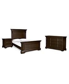 Closeout! Carlisle Panel Bedroom 3-Pc. Set (California King Bed, Dresser & Nightstand)