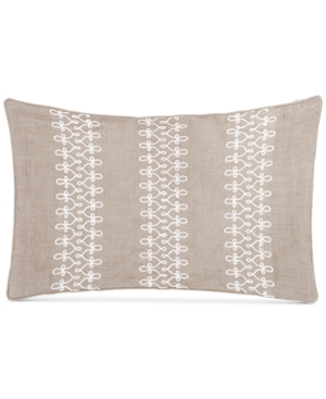 Sanderson Delphiniums Loop Cord Embroidery 128Thread Count 12 x 18 Decorative Pillow Bedding