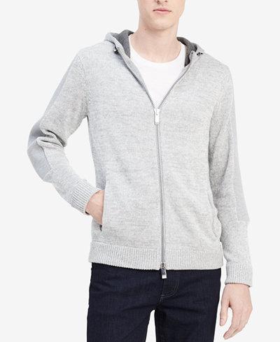 Calvin Klein Men's Colorblocked Full-Zip Hoodie, Created for Macy's
