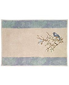 Love Nest Cotton Embroidered Bath Rug