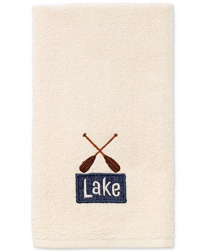 Avanti Lakeville Cotton Embroidered Fingertip Towel