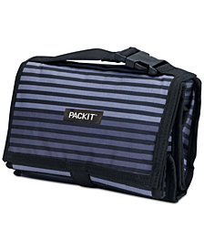 Pack It Gray Striped Freezable Lunch Bag