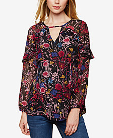 Motherhood Maternity Floral-Print Tunic