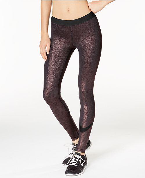d1bfb32c0d67 Nike Pro Cool Sparkle Dri-FIT Leggings   Reviews - Pants   Capris ...