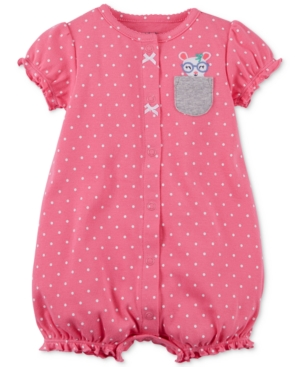 Carters BunnyPocket Cotton Romper Baby Girls (024 months)