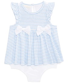 Baby Girls Striped Skirted Romper, Created for Macy's