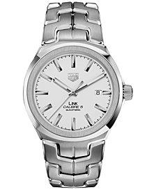 TAG Heuer Men's Swiss Automatic LINK Stainless Steel Bracelet Watch 41mm