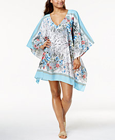 Vince Camuto Wildflower-Print Caftan Cover-Up