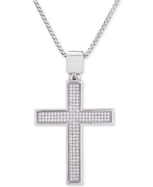 f7d1a9479 Macy's Men's Diamond Cross Pendant 22
