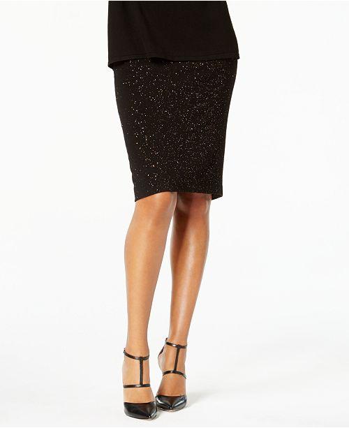 79fd0e46d Alfani Glitter Skirt, Created for Macy's & Reviews - Skirts - Women ...