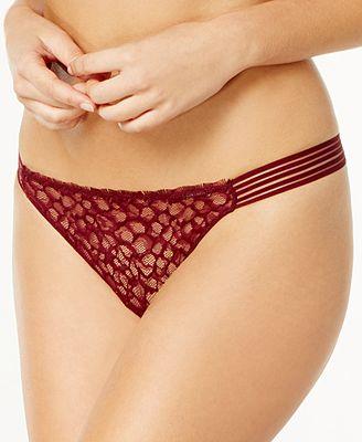 Calvin Klein Vixen Striped Lace Thong QF4063