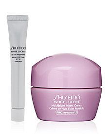 Receive a FREE 2pc White Lucent gift with $65 Shiseido purchase