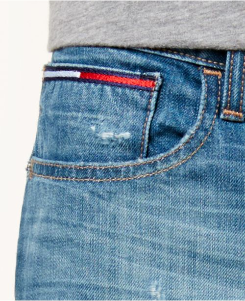4ec94c55c5 ... Tommy Hilfiger Men s Straight-Leg Joel Distressed Jeans