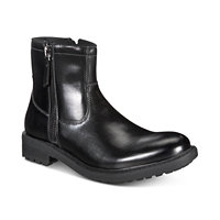 Kenneth Cole Reaction Unlisted Men's C-Roam Zip-Up Boot (Black)
