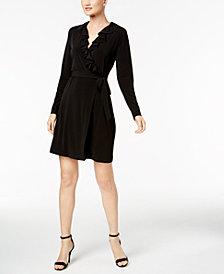 Calvin Klein Ruffled Wrap Dress