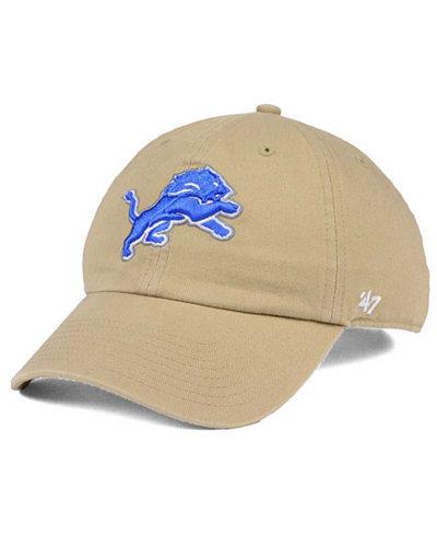 '47 Brand Detroit Lions Khaki CLEAN UP Cap