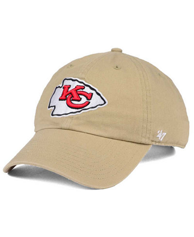 '47 Brand Kansas City Chiefs Khaki CLEAN UP Cap