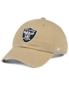 '47 Brand Oakland Raiders Khaki CLEAN UP Cap