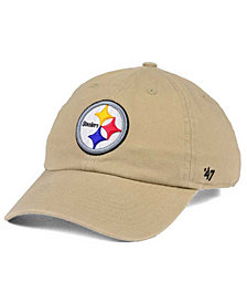 '47 Brand Pittsburgh Steelers Khaki CLEAN UP Cap