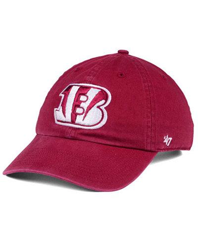 '47 Brand Cincinnati Bengals Cardinal CLEAN UP Cap
