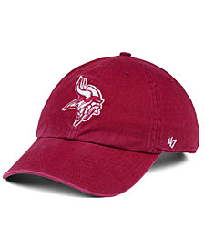 '47 Brand Minnesota Vikings Cardinal CLEAN UP Cap