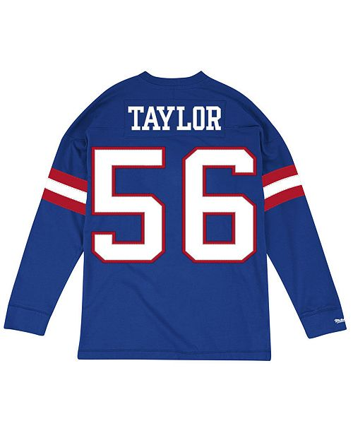 ... Mitchell   Ness Men s Lawrence Taylor New York Giants Retro Player Name    Numer Longsleeve ... 5c5240d92