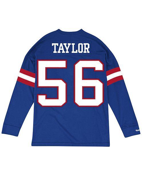 sports shoes 4e111 0ba04 Men's Lawrence Taylor New York Giants Retro Player Name & Numer Longsleeve  T-Shirt