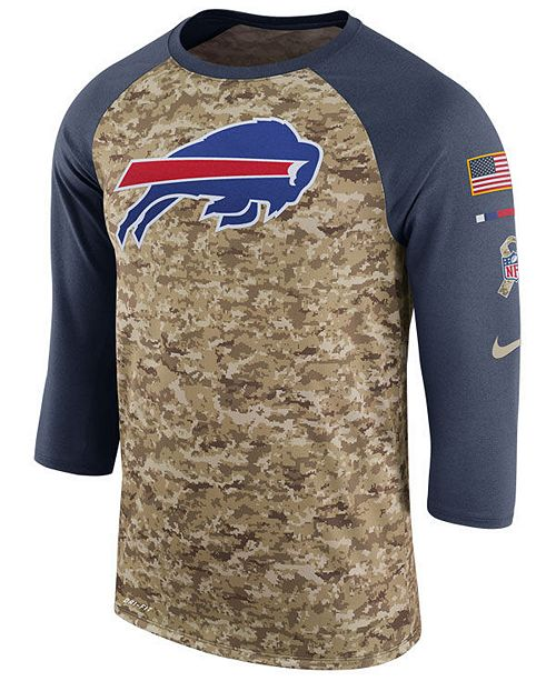 low priced eafc3 15955 Nike Men's Buffalo Bills Salute To Service Raglan T-Shirt ...