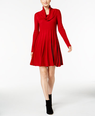 Calvin Klein Cowl-Neck Sweater Dress, Regular & Petite Sizes