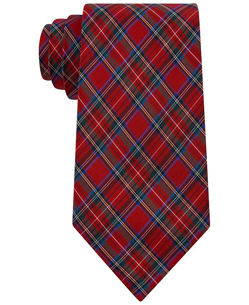 Club Room Men's Plaid Silk Tie, Created for Macy's