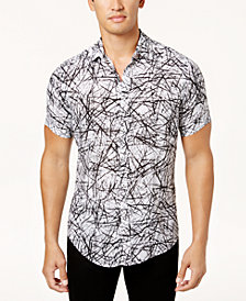 I.N.C. Men's Scratch-Print Shirt, Created for Macy's
