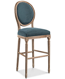 Nadia Round Back Bar Stool, Quick Ship