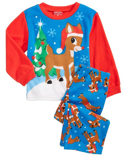0d18ea96b3ad AME Rudolph the Red-Nosed Reindeer 2-Pc. Pajama Set