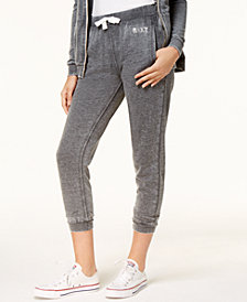Roxy Juniors' Cotton Fleece-Lined Jogger Pants