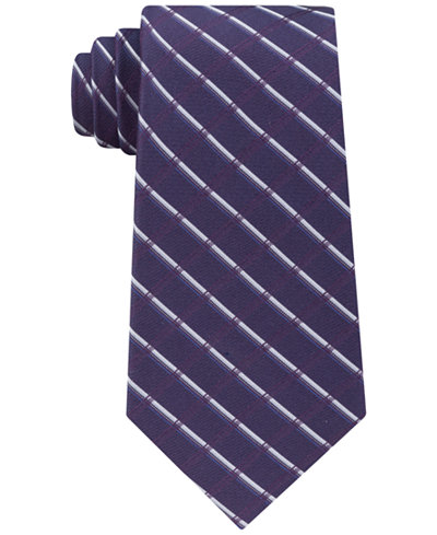 Calvin Klein Men's Classic Shadow Grid Silk Tie