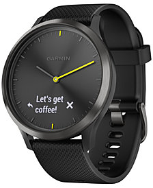 Garmin vívomove™ HR Black Silicone Strap Hybrid Smart Watch 43mm