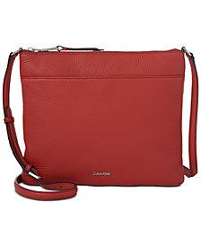 Calvin Klein Lily Pebble Leather Crossbody