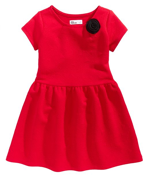 Epic Threads Quilted-Look Fit & Flare Dress, Toddler Girls, Created for Macy's