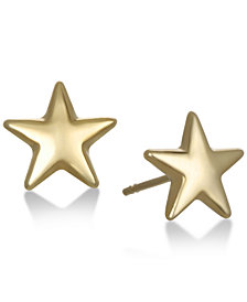 Star Stud Earrings in 10K Gold