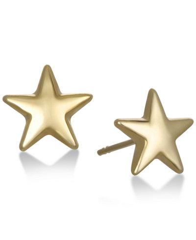 Star Stud Earrings in 10K Gold