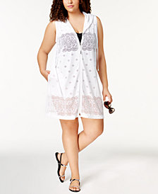 Dotti Plus Size Free Spirit Sheer Hoodie Cover-Up