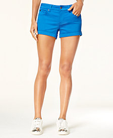 "Celebrity Pink Juniors' 3"" Cuffed Colored Shorts"
