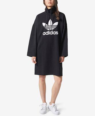 adidas Originals Pharrell Williams Funnel-Neck Dress