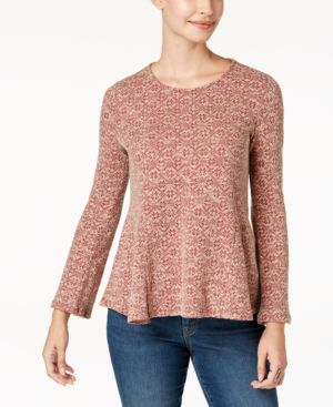 Style & Co Petite Printed Knit Swing Top, Created for Macy's 5054933