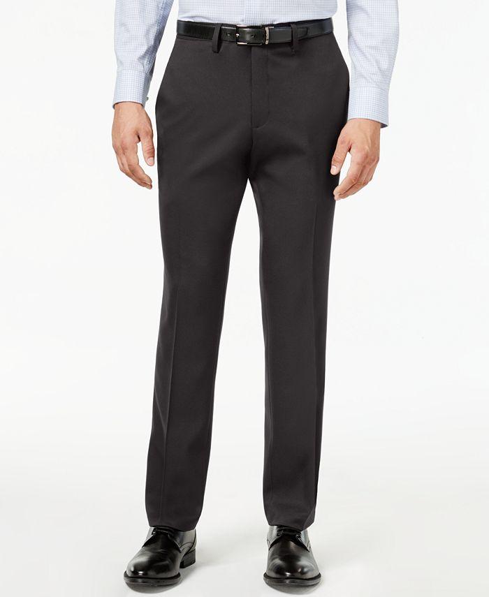 Kenneth Cole Reaction - Men's Slim-Fit Stretch Gabardine Dress Pants