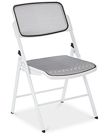 ProGrid® Mesh Seat and Back Folding Chair (Set Of 2), Quick Ship