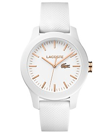 Lacoste Women's 12.12 White Silicone Strap Watch 38mm