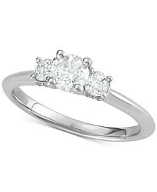 Diamond Trinity Ring (1 ct. t.w.) in 14k White Gold