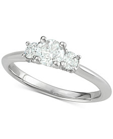 Diamond Trinity Ring (1 ct. t.w.) in 14k White Gold