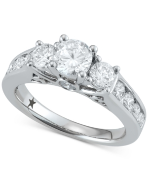 Trinity Engagement Ring (2 ct. t.w.) in 14k White Gold